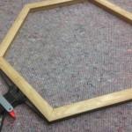 Gluing the hexagonal oak frame