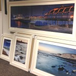 Framed coastal photographs by Mark Huntley