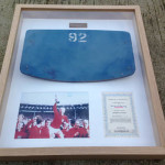 Framed Wembley seat from 1966...