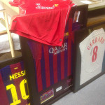 Four footy shirts