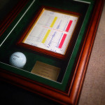 And a golf ball in a glass case!