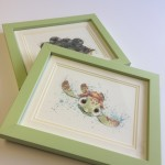"Here we have framed a ""Finding Nemo"" print in Confetti green"