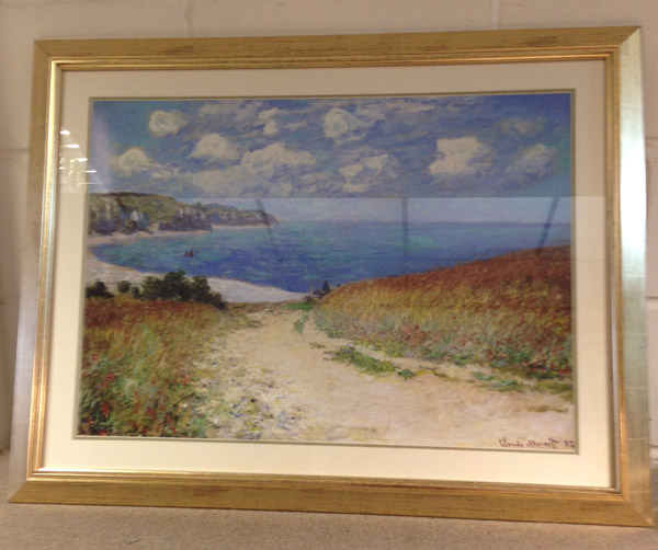 A beautifully framed Monet print...