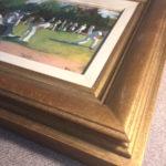 The new gilt frame's lovely patina shines through