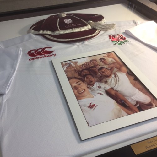 And to cap it all.. framing an England Rugby cap « Frames « Uckfield ...