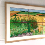 'The Road to Thwing' framed in natural oak with a single off white mount...