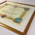 Framed papal blessing
