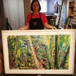 framed botannical print