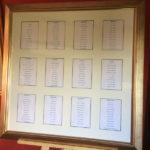 framed seating plan
