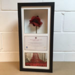 tower of london poppy in black frame